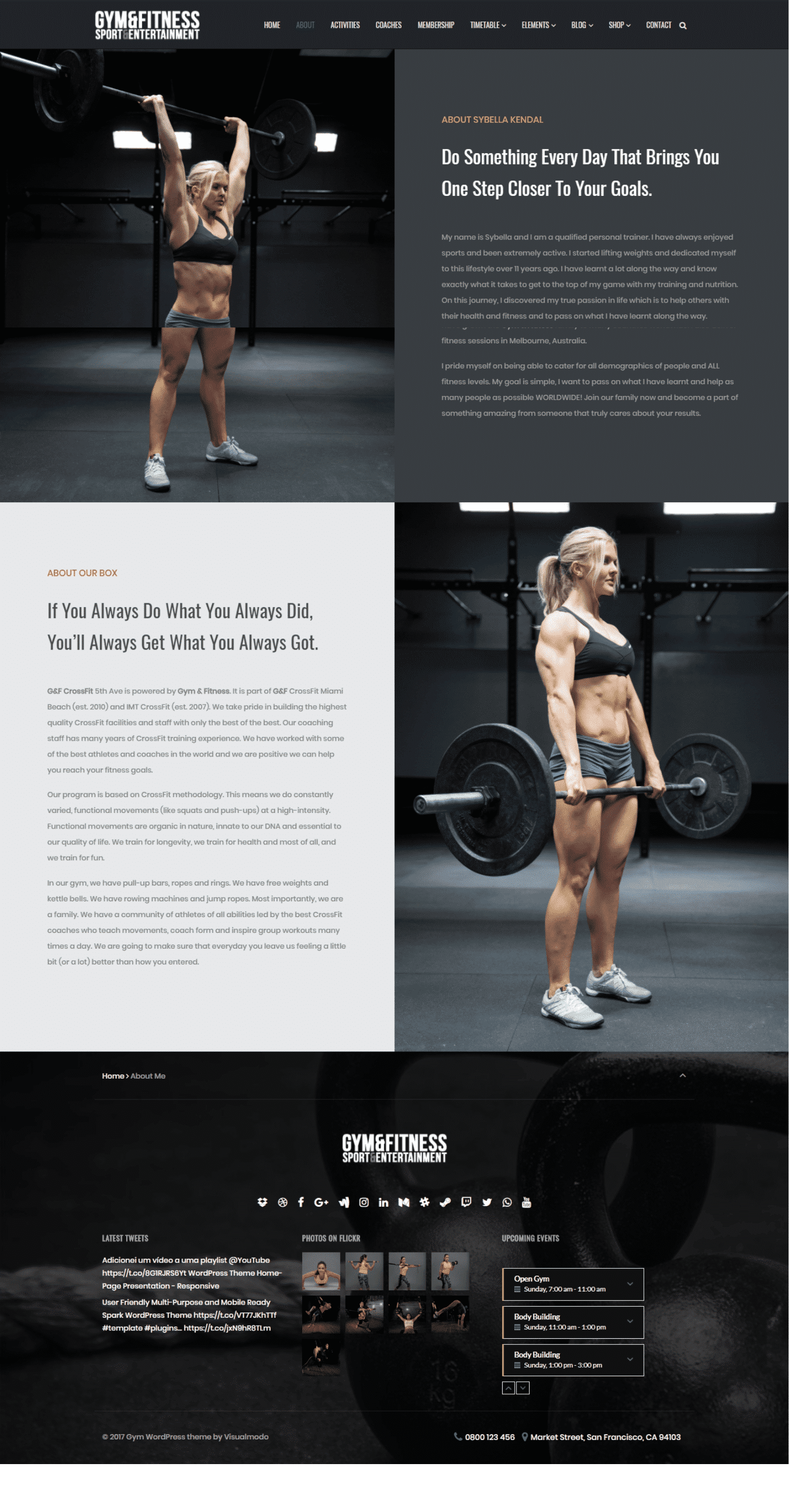 Gym WordPress Theme Screenshot
