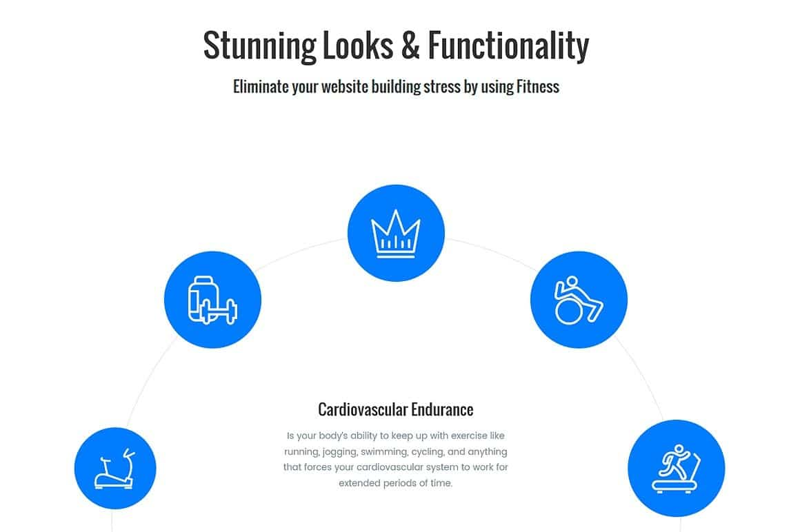 Fitness WordPress theme Screenshots