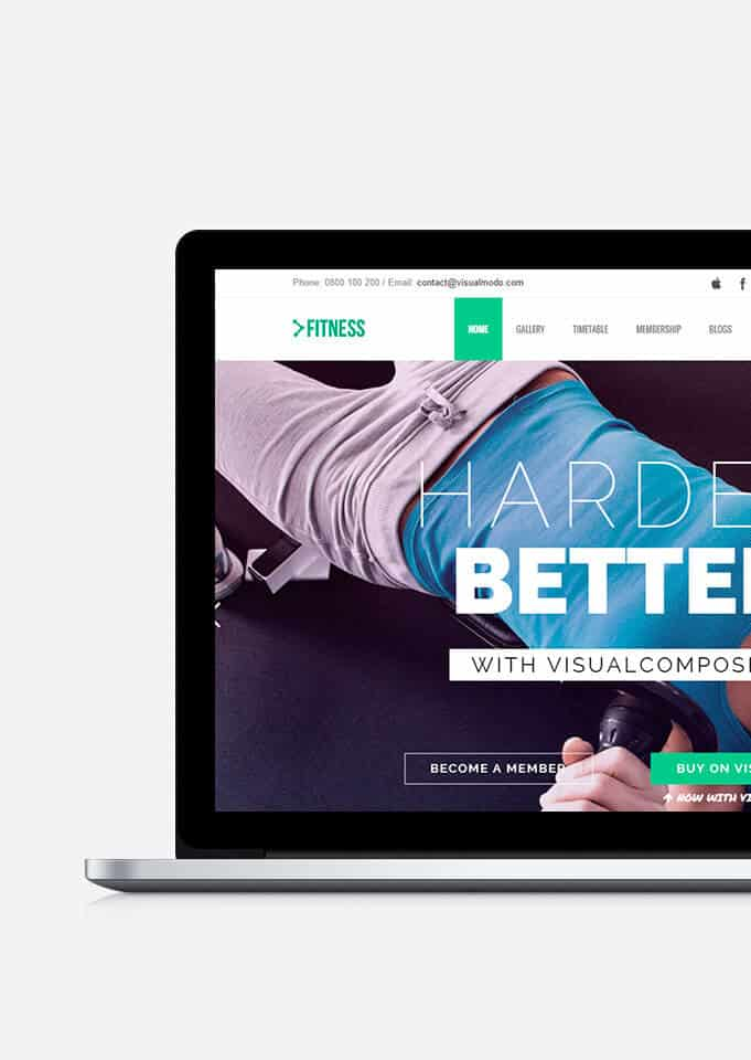 Fitness WordPress Theme – Responsive Health Template