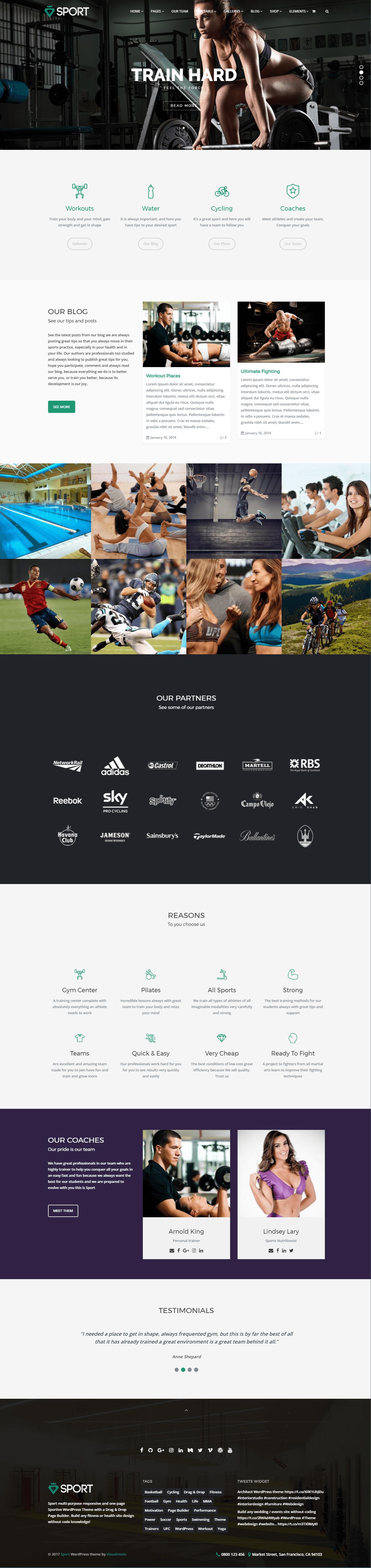 Sport WordPress Theme Screenshot