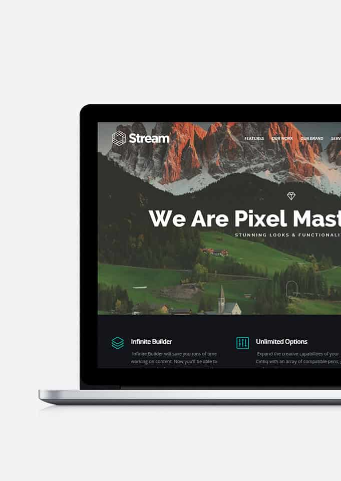 Stream One-Page WordPress Theme – Mobile-Friendly Landing Page Template