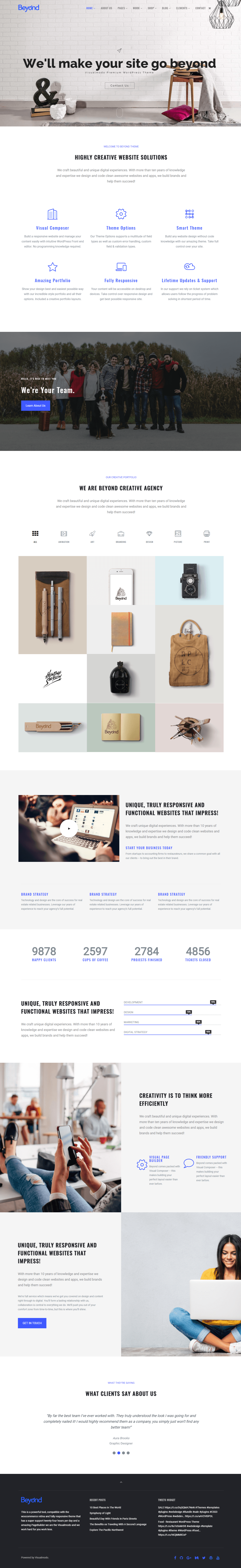 Beyond WordPress Theme Screenshots
