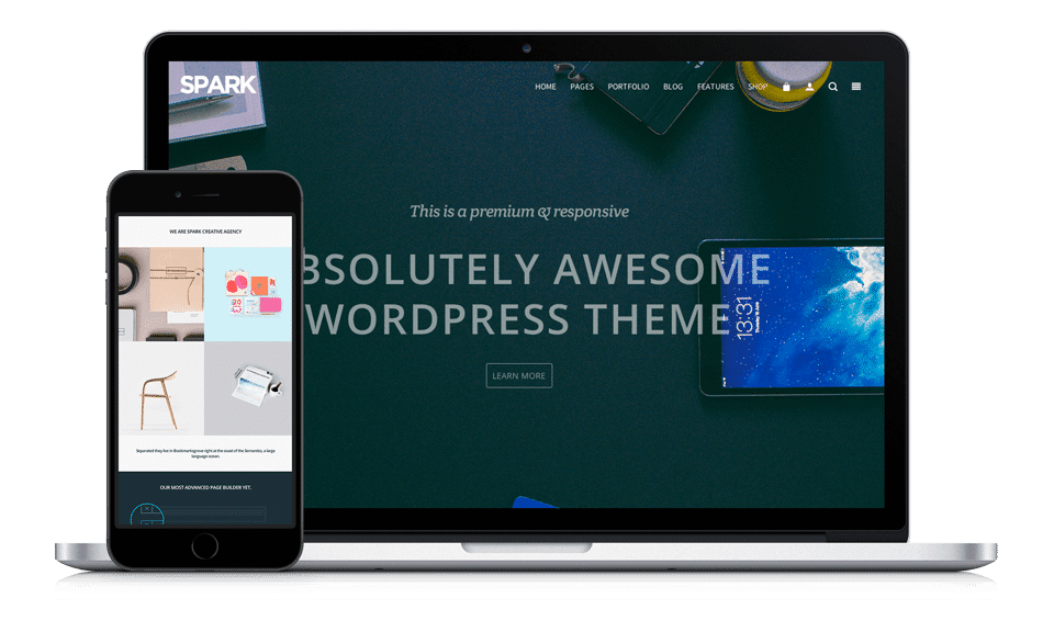 Spark WordPress Theme - Multi-Purpose Responsive by Visualmodo
