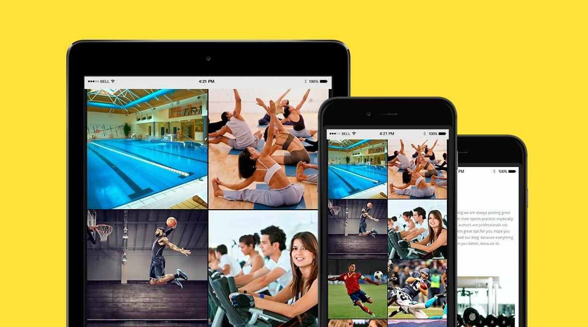 Sport WordPress Theme Health and Fitness Responsive Template