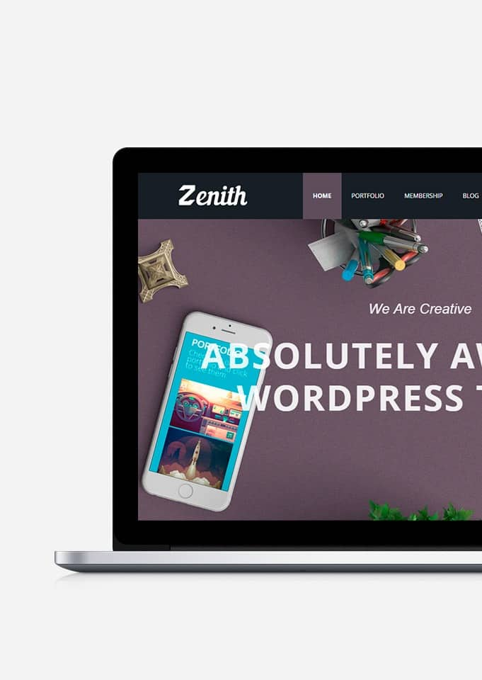 Zenith WordPress Theme – Responsive Portfolio Template