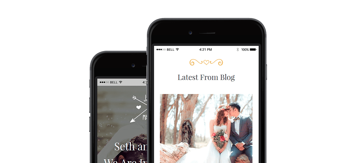 Wedding WordPress theme responsive events templates by Visualmodo