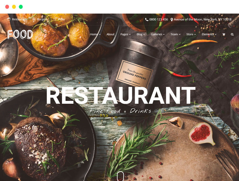 Best Restaurant WordPress Theme Food Site Builder Visualmodo - Restaurant template wordpress
