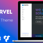 Vertical Navigation Menu WordPress Theme