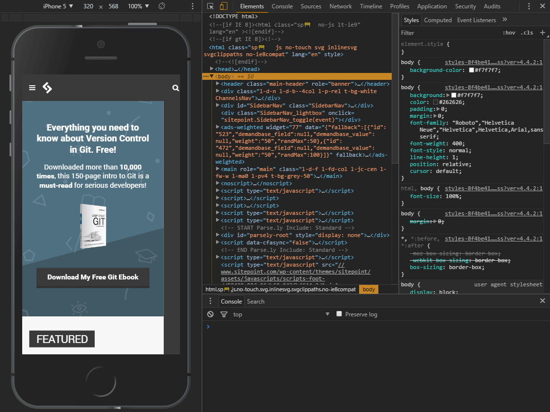 How to Simulate Mobile Devices In Browser