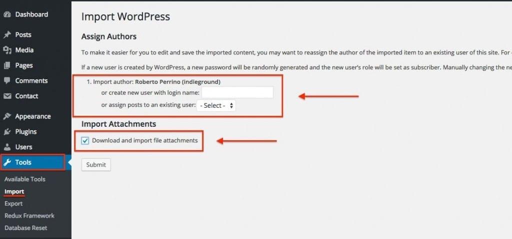 Import WordPress Theme Demo Content
