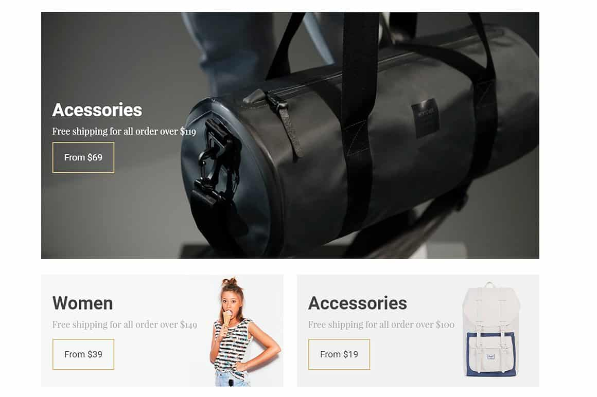 Seller eCommerce WordPress Theme Screenshots from demonstrative site WooCommerce Template