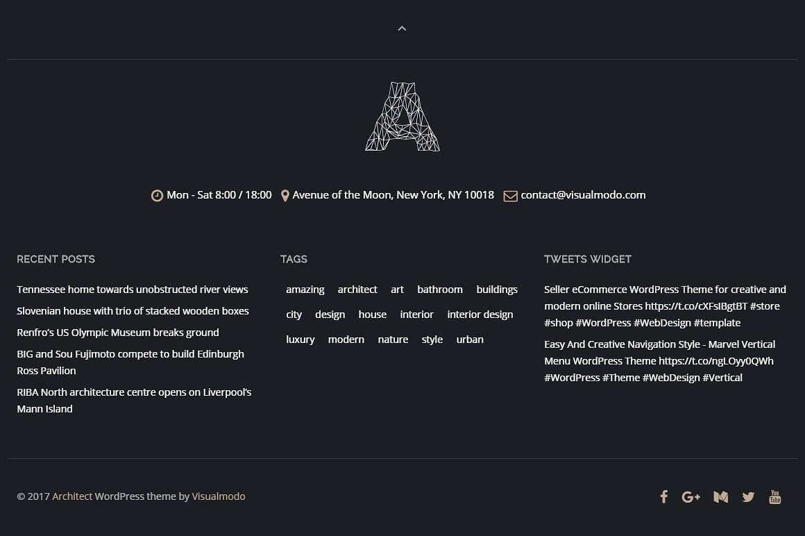 Architect WordPress Theme Screenshots