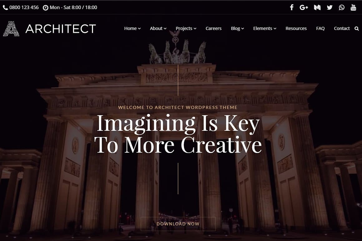 Architect WordPress Template: A New Interior Design WordPress Theme