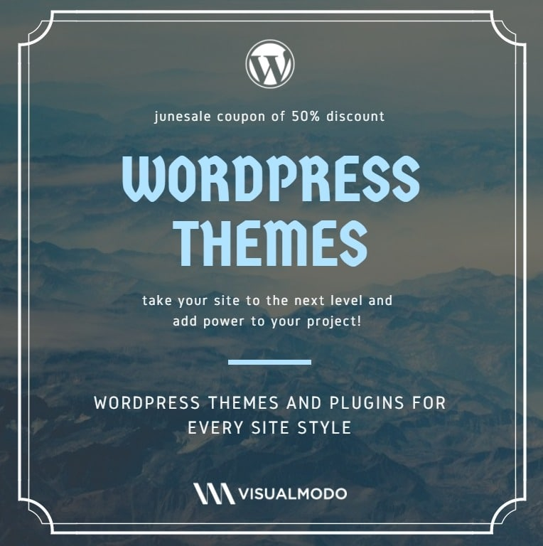 50% discount WordPress Themes promotion - JUNESALE