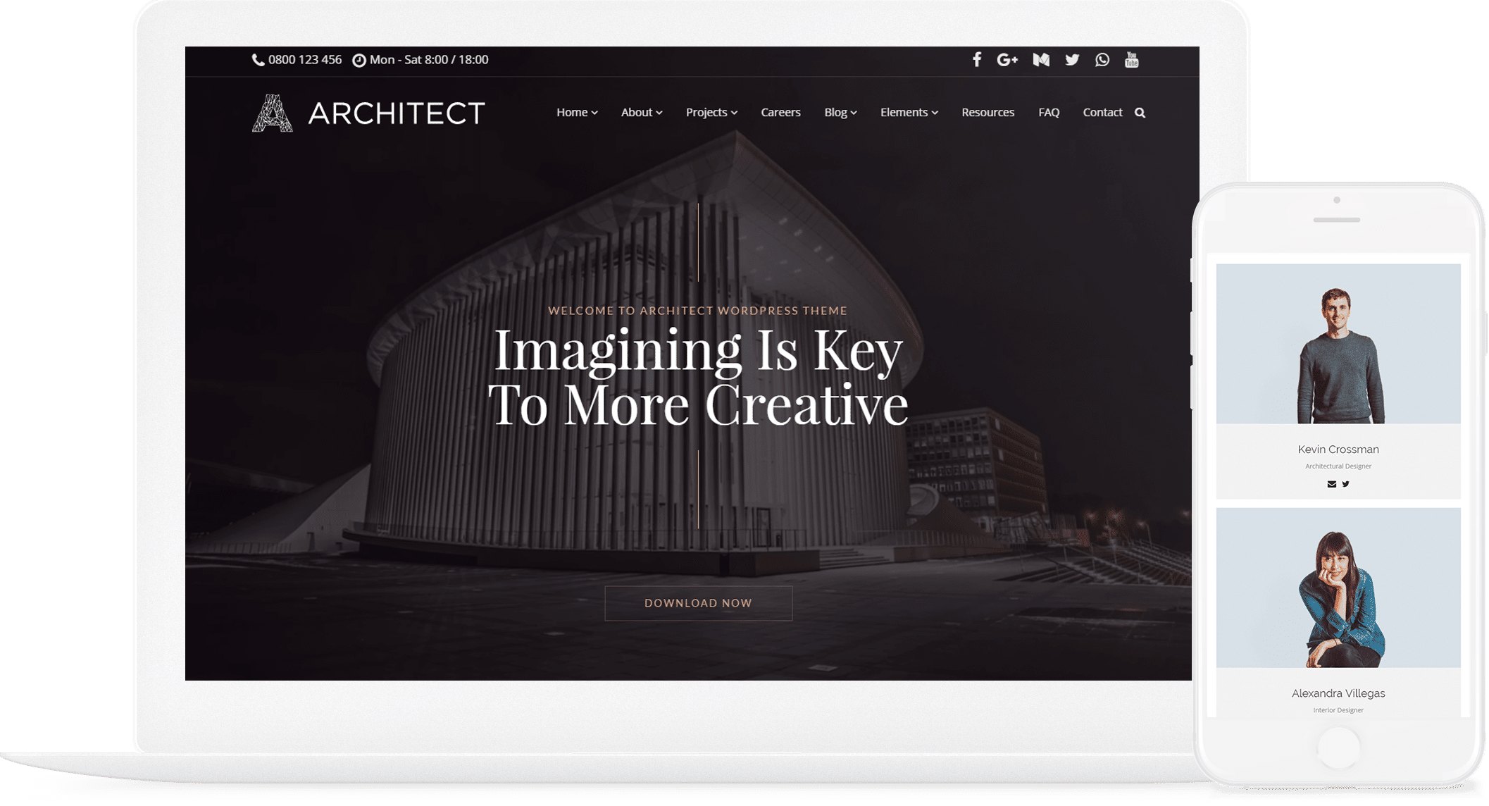 Architect wordpress theme interior design responsive for Architecture wordpress