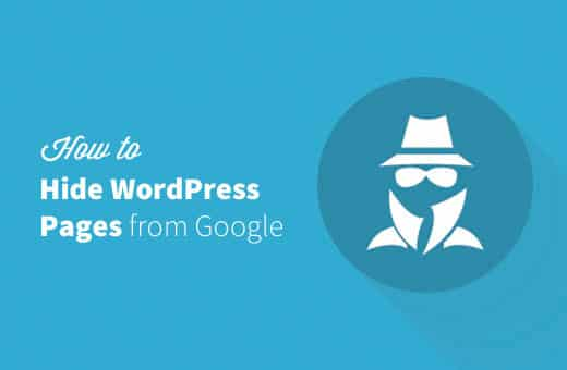 How to Hide a WordPress Site From Google