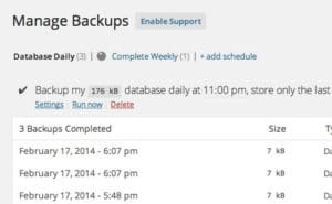 Best WordPress Backup Plugins 4. BackUpWordPress