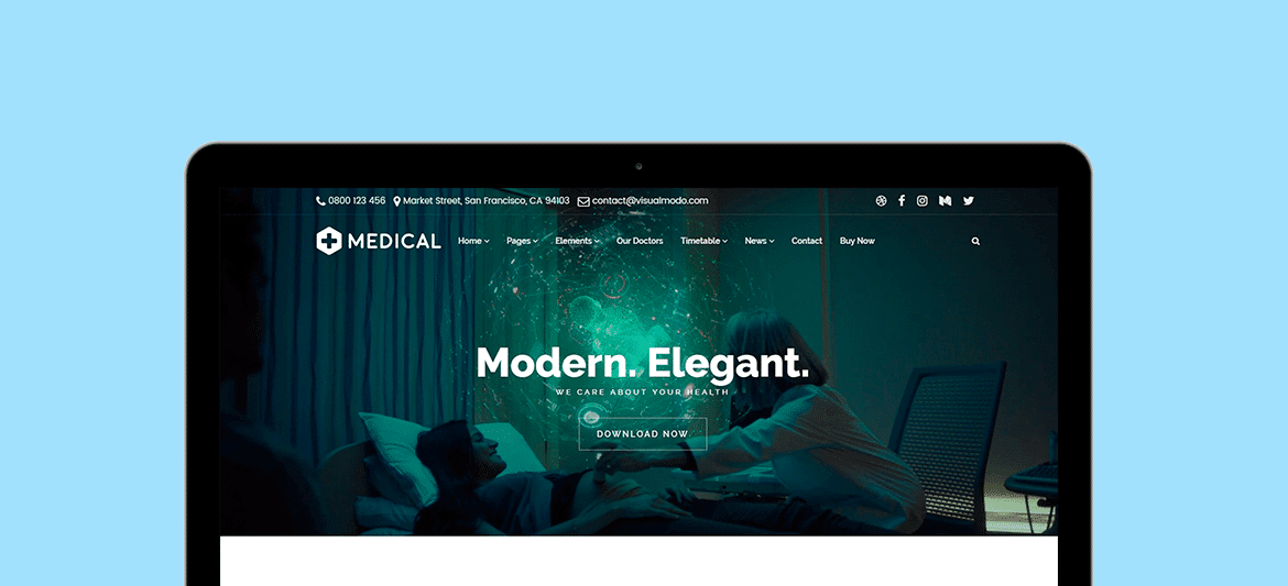 Medical WordPress Theme - Responsive Health Care and Clinic Template