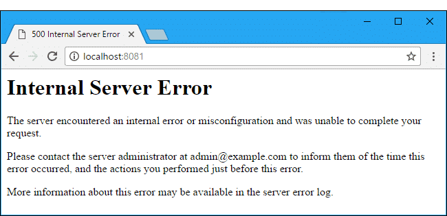 WordPress Internal Server Error Fix