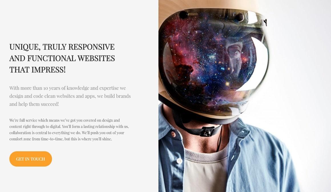 Nectar WordPress theme home-page screenshot