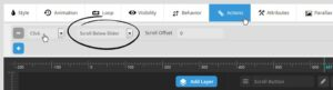 Revolution Slider WordPress Plugin Scroll Down Button