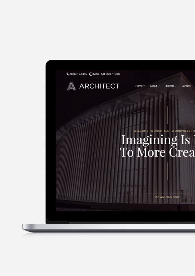 Architect WordPress Theme – Interior Design & Architecture Responsive Template