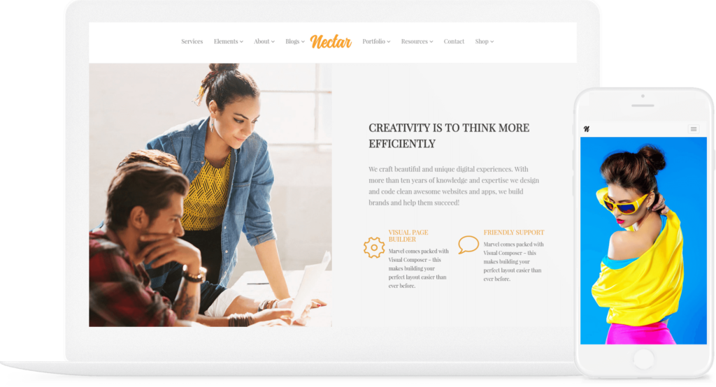 Nectar WordPress theme Responsive Multi-Purpose Template