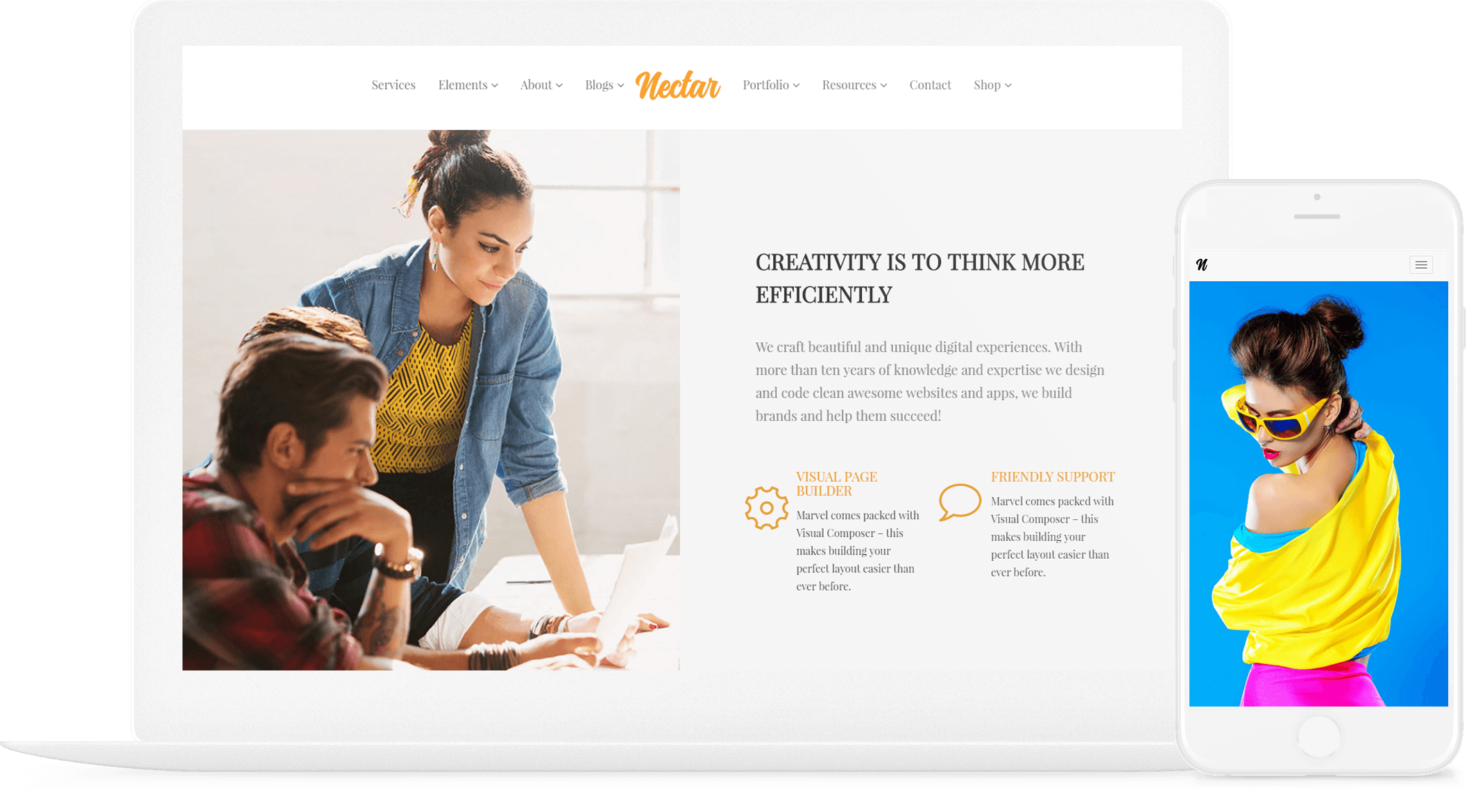 Nectar WordPress theme Responsive Multi-Purpose Template