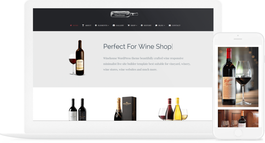 WineHouse WordPress Theme - Wine WordPress Theme - Responsive site Builder
