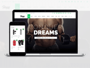 Fitness WordPress theme - gym site builder - health