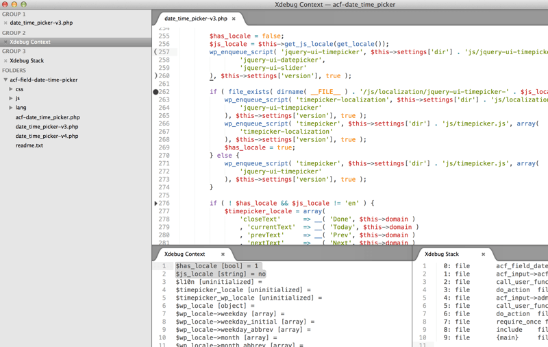 Debug WordPress with Sublime Text 2 and XDebug