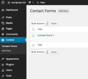 Starting with Contact Form 7 WordPress Plugin