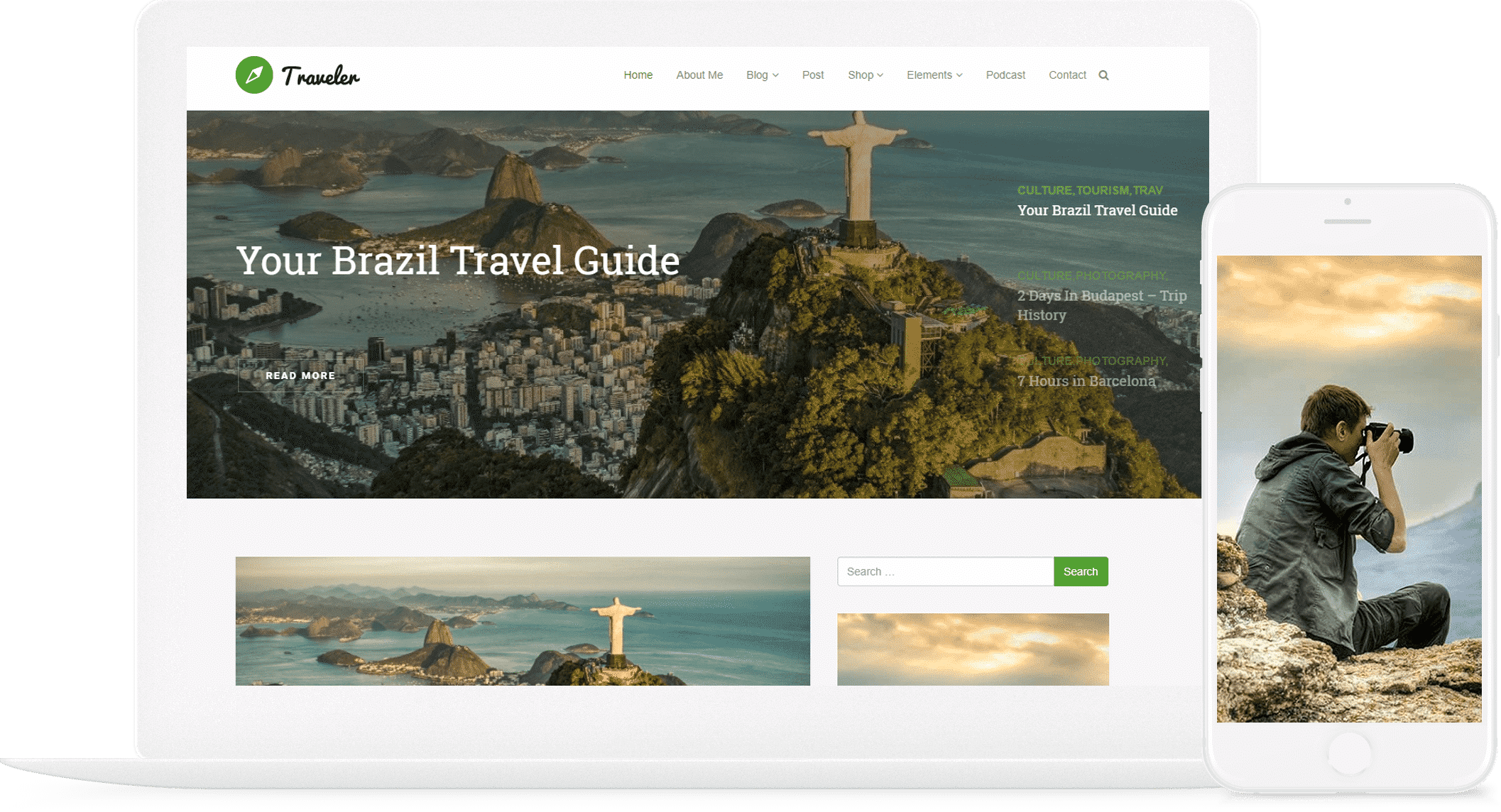 Traveler WordPress Theme - Blogger WordPress Site Builder - Blog WordPress Theme by Visualmodo - posts slider