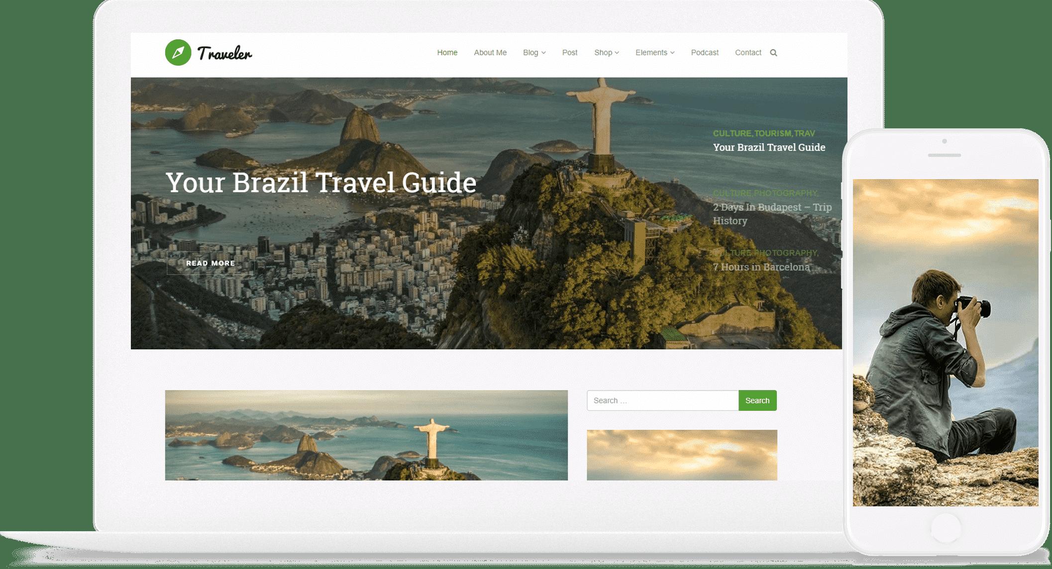 Wordpress Theme Template | Traveler Wordpress Theme Blog Wordpress Template By Visualmodo