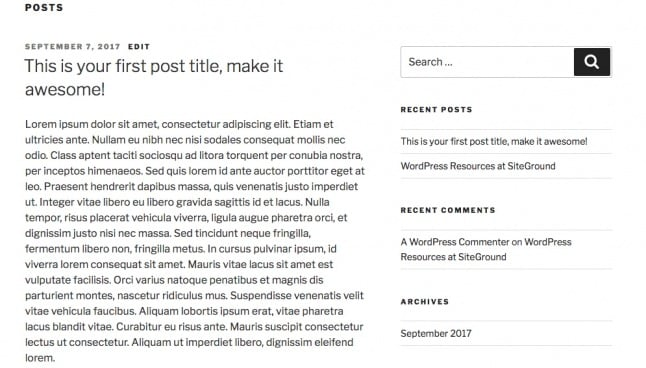 Post front-page - WordPress