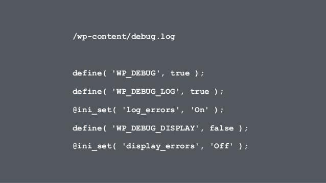 How to Use The WordPress Debug Log
