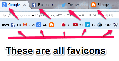 What is a site favicon?