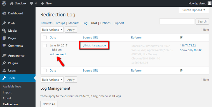 Monitor Your 404 Pages and Set Up Redirects