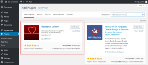 To Install Heartbeat Control WordPress plugin