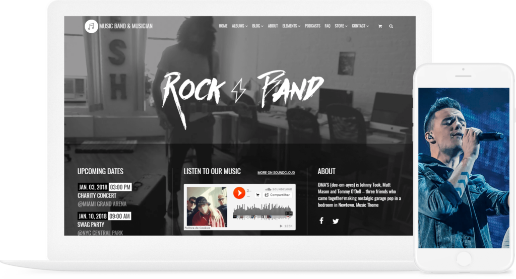 Music WordPress Theme - Responsive Music Band & Musician Template