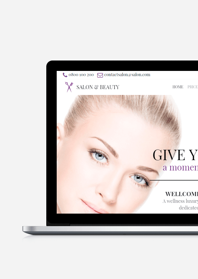 Salon WordPress Theme – Beauty Services Responsive Website Builder