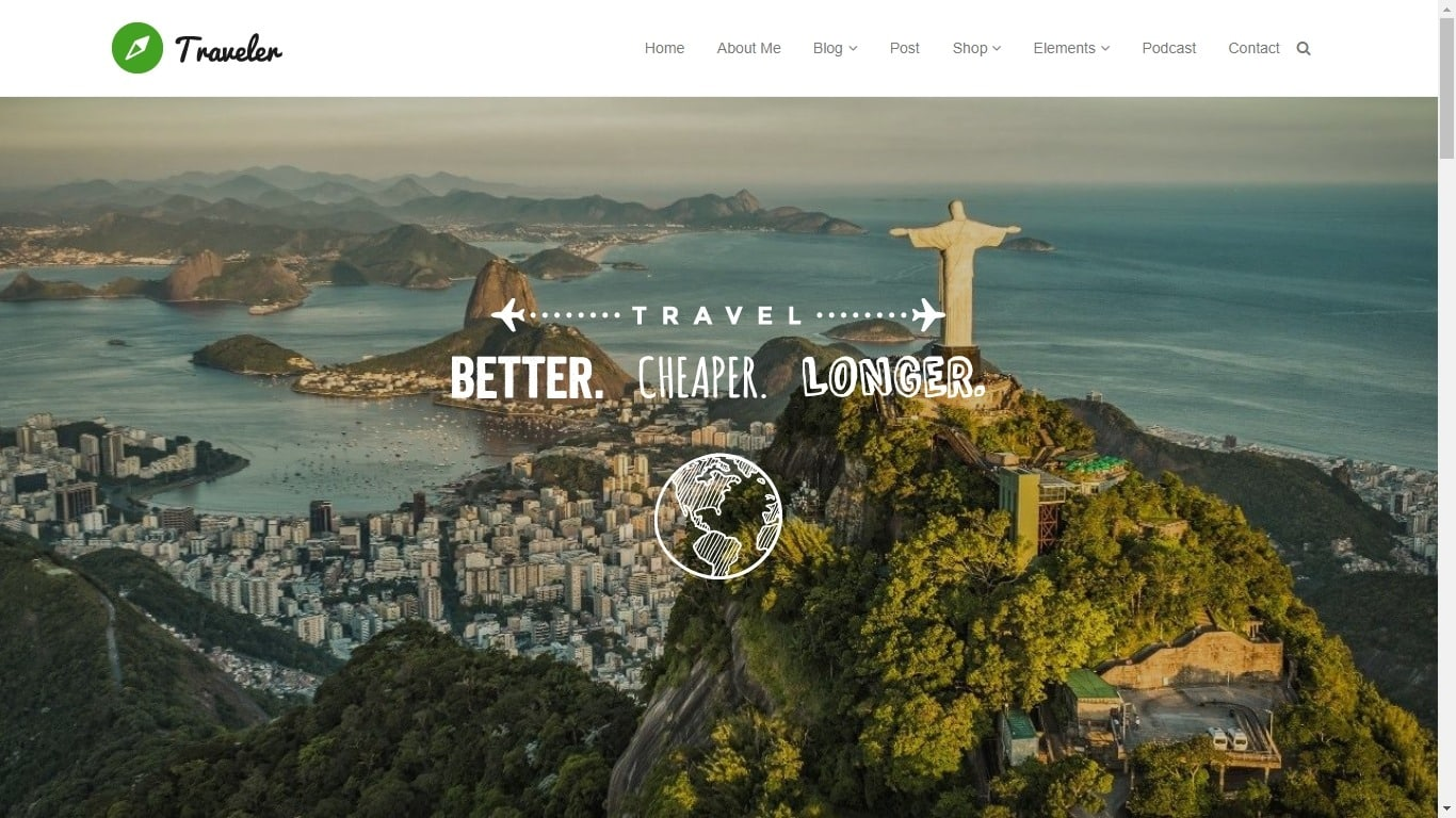 Blog Masonry - Traveler WordPress Theme Blog WordPress Theme