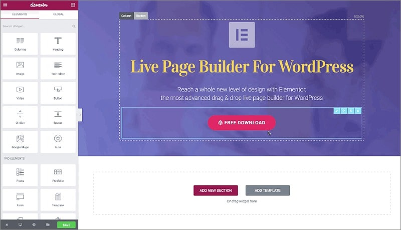Elementor - Best Page Builders List