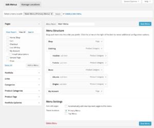 How To Edit WordPress Menus - Primary