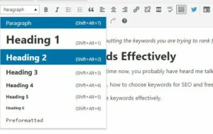 Optimize your headings