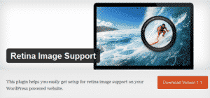 Retina Image Support WordPress Plugin