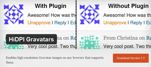 HiDPI Gravatars - WordPress Plugins