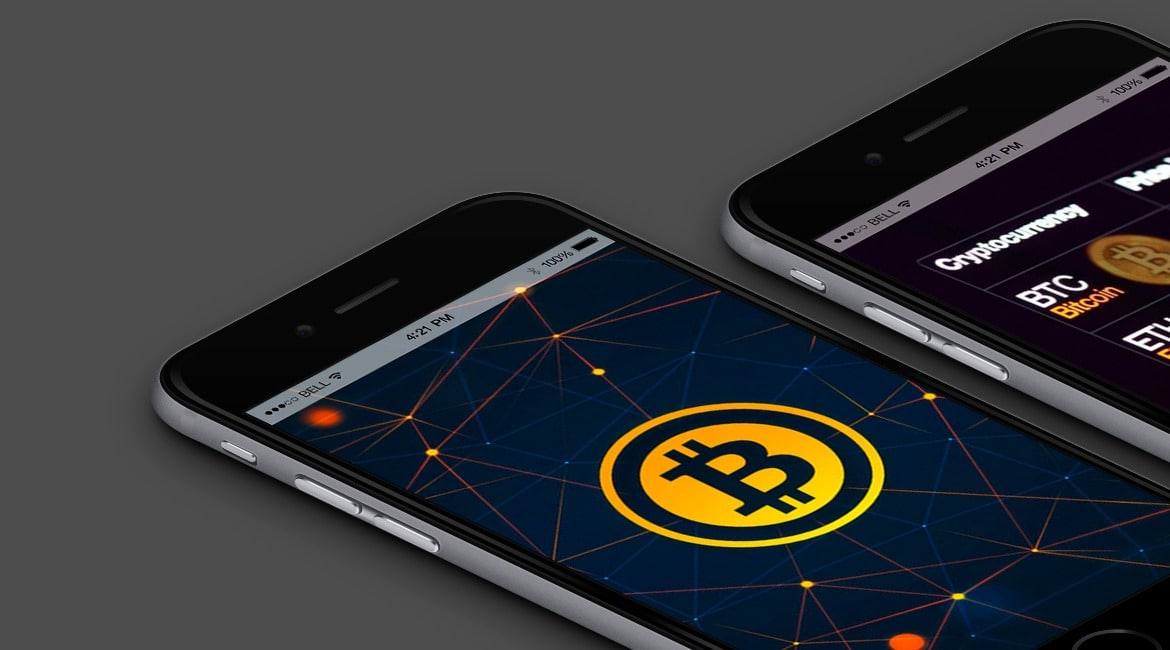 Cryptocurrency WordPress Theme - Responsive Crypto Template -iPhone View
