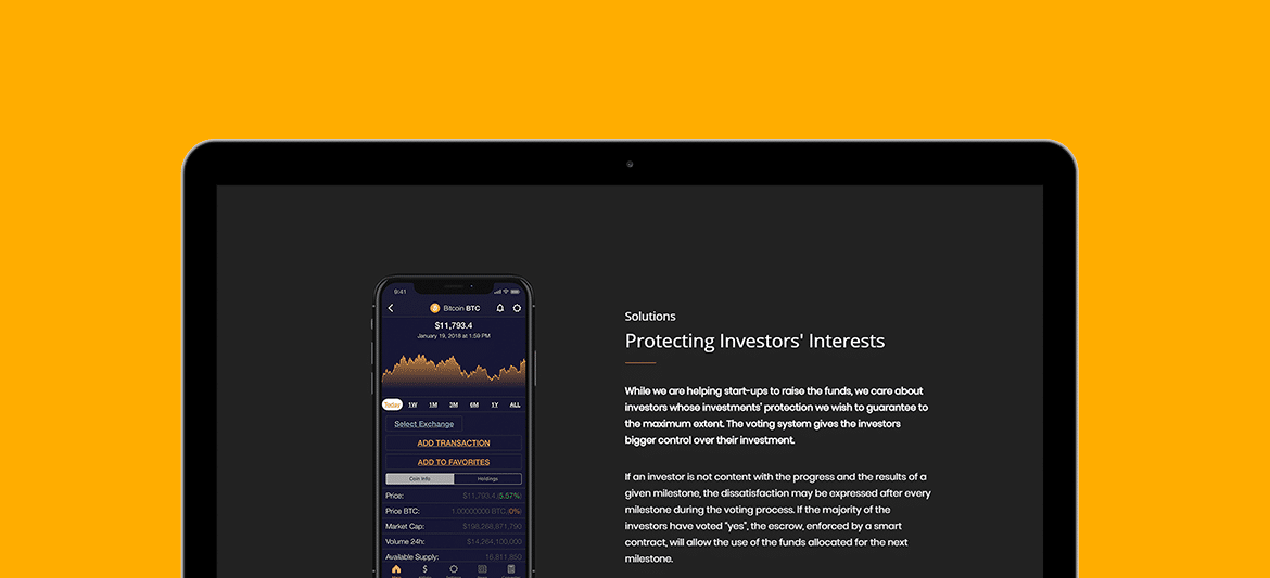 Cryptocurrency WordPress Theme - Responsive Crypto Template -iPad View