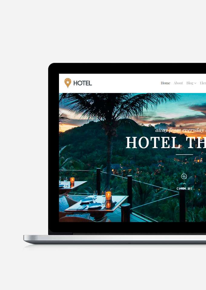 Hotel WordPress Theme - Responsive Website Builder
